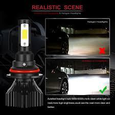 pair h4 9003 hb2 1200w 180000lm car led headlight bulbs cree cob