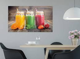 grazdesign bilder auf glas bunte smoothies 50x30cm