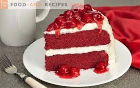 velvet cake ist ein heller schmackhafter genuss die