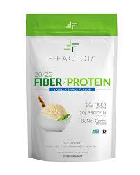 F-Factor 20/20 Fiber/Protein Powder - Vanilla Flavor