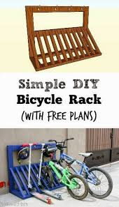 DIY Pallet Bicycle Rack
