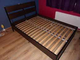 ikea double bed frame trysil with luroy slatted bed base very