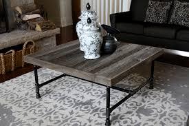 Hemlock Grey Board Coffee Table AG Designs Reclaimed Rustic Wood