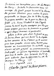 Holograph Dedication To The Marquis De Torcy By Abbe Saint Pierre In Projet Pour Rendre La Paix Perpetuelle En Europe 1712 Copy BnF Res E 534