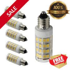 set of 5 mini candelabra e11 base t4 jd 110v led halogen