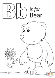 Letter B Is For Bear Coloring Page Free Printable Pages