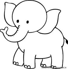 Extremely Inspiration Elephant Printable Coloring Pages Pics For