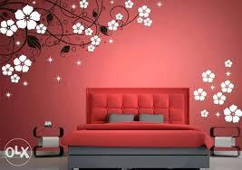 Simple Wall Paintings White Bedroom