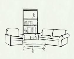 Living Room Furniture Clipart Black And White Walpaper Ideas Ea