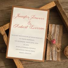 Rustic Burlap And Lace Layered Wedding Invitation EWLS058 2