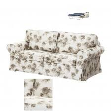 ektorp 2 seat sofa bed slipcover sofabed cover norlida beige white