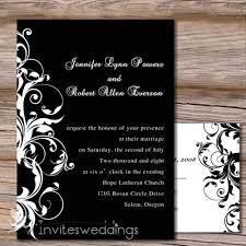 Capable White And Black Wedding Invitation IWI130