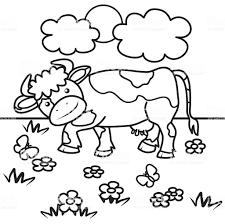 Vache Livre De Coloriage Vecteurs Libres De Droits Et Plus D