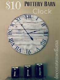 Down Oxford Street: Pottery Barn Knock-Off Clock From Decorated ... Pottery Barn Large Wall Clocks Ashleys Nest Potterybarn Inspired Clock Black Railway Regulator Ebth Union Station Au Rustic Pendant 16 Best Giant Images On Pinterest Wall Clock Just Photocopy 4 Diff Faces And Put Them Under A Glass Plate Oversized John Robinson House Decor Mount Digital Timer