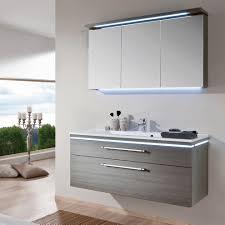 puris cool line badmöbel 120 cm mit spiegelschrank inkl gesimsleuchte