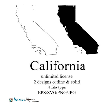 California Vector State Clipart Svg Png Map Outline 570 X 573 Pixels
