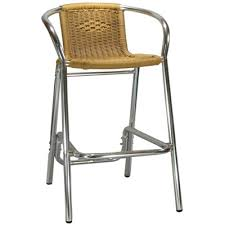 Outdoor Rattan Patio Bar Stool Millennium Seating