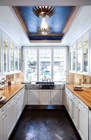 tray ceiling lighting with hammered metal kitchen sink kitchen