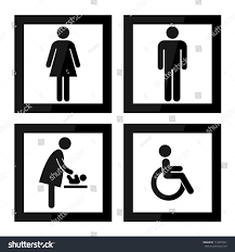 Printable Handicap Bathroom Signs by Black Square Toilet Sign Black Border Stock Illustration 114475951