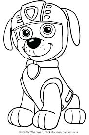 Paw Patrol Coloring Pictures Pages Tracker Page Pdf