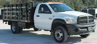 2008 Dodge Ram 5500 HD Stake Bed Truck   Item H8303   SOLD! ... 2005 Ford F750 16 Stake Bed Truck For Sale 52343 Miles 1989 F600 Sa 14 2016 New Isuzu Npr At Industrial Power 2017 Hd 21ft Liftgate Available 20 24 Stakebed Trucks With A Yelp 2018 Hino 195 1999 F450 Flatbed 12 Ft Large Holds Three Passengers And Tons Of Cargo In