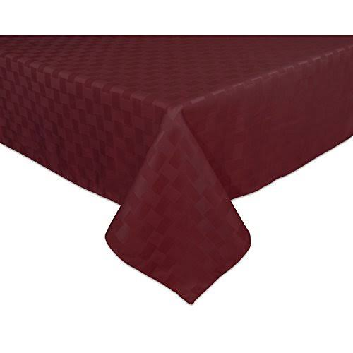 "Bardwil Reflections Oblong/Rectangle Tablecloth, Merlot, 60"" x 84"""