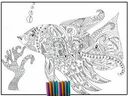 Fish Coloring Page Adult