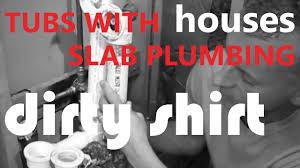 Who Makes Mirabelle Bathtubs by Www Dirtyshirt Info Bathtub Installation Slab Plumbing Youtube