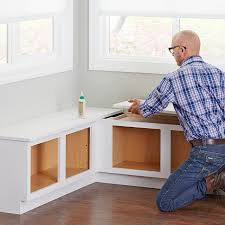 Glue The Tops To Corner Cabinets