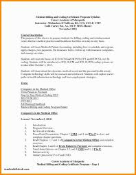 Medical Billing And Coding Resume Samples Template