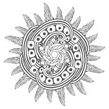 Magic Zentangle Art For Coloring Book Pages Mandala Tattoo Design Premium Vector