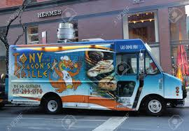 NEW YORK - DECEMBER 15, 2016: Tony Dragon's Grille Food Truck ... Kosher Sushi Food Truck Hits The Streets Of Nyc That New York Association Nyfta Trucks Photo Hot Dog Vendors And Coffee Carts Turn To A Black Market Operating In Vintage 1977 Citroen Used For Sale The Best Ny Bagel Cafe Deli Miami Roaming Hunger Cart Rentalsticker Wpsbrandingnewyorkskytouchnyc October 11 National Day Holidays Around Letter Grades Coming City Food Trucks Abc7nycom Will Now Get Grades Like Restaurants Bubble Lion
