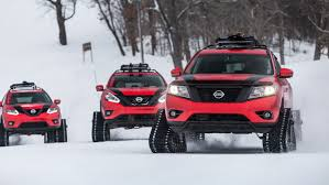 Nissan's Winter Warrior Concept Cars Look More Like Snow Tanks ... Suzuki Carry Minitruck On Tracks Youtube Powertrack Jeep 4x4 And Truck Manufacturer Tank For Trucks You Can Get Treads For Your Vehicle Lamborghini Huracan With Rubber Snow Rendered Tire Through Stock Photo Image Of Track 60770952 Custom Right Track Systems Int Winter Proving Grounds Product Testing Services Smithers Rapra Ken Blocks Raptortrax Is A Snowmurdering Supertruck Land Rover Defender Satbir Snow Tracks Made By Dajbych Krkonoe Buy The Snocat Dodge Ram From Diesel Brothers
