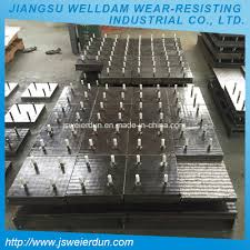 China Heat Resistance Steel Chromium Carbide Overlay Plates Mining ...