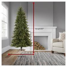 75ft Pre Lit LED Artificial Christmas Tree Full Noble Spruce Instant