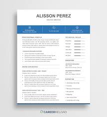 Free Word Resume Template - Alisson - Career Reload Free Word Resume Templates Microsoft Cv Free Creative Resume Mplate Download Verypageco 50 Best Of 2019 Mplates For Creative Premim Cover Letter Printable Template Editable Cv Download Examples Professional With Icons 3 Page 15 Touchs Word Graphic