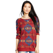 denim u0026 supply ralph lauren southwestern cotton tunic in red lyst