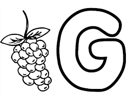 Grapes Learning Alphabet G For Coloring Pages