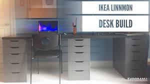 Ikea Linnmon Corner Desk Hack by Ikea Linnmon Desk Build Dual Desk Youtube