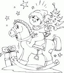 Boy On Rocking Horse Coloring Pages