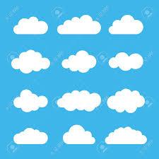 100 Flat Cloud Icon Set Different Cloud Shapes Cloud Collection