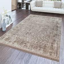 kurzflor teppich orient design wohnzimmer