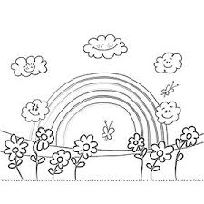 Appealing Rainbow Printable Coloring Pages Good Page