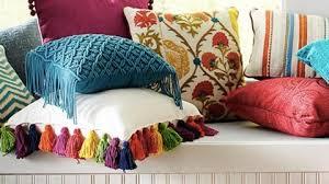 Pier e Inspired Bright Colored Tassel Pillow DIY Joy