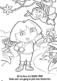 Here Both Have Come To Entertain Their Fans For The Spring Easter Through Free Range Of Dora Coloring Pages Showcased Characters Holding