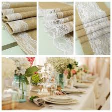 Rustic Wedding Decorations Wholesale Table Runner Natural Jute Country Party Decoration