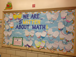 We Are SMITTEN About Math Here Classroom Bulletin BoardsClassroom