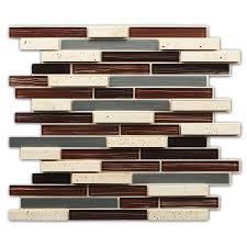 shop instant mosaic brown glass metal versailles