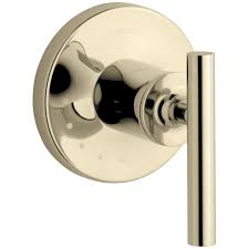 Kohler Purist Bathroom Faucet Gold by Kohler K T14490 4 Purist Volume Control Valve Trim With Lever