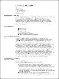 Entry Level Law Enforcement Resume